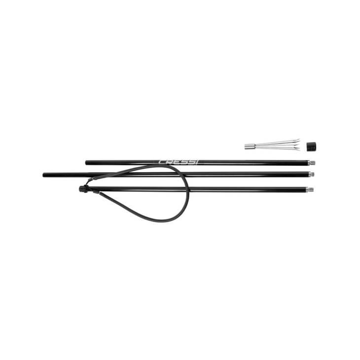 3 lances en aluminium CRESSI avec embout paralyseur (6')